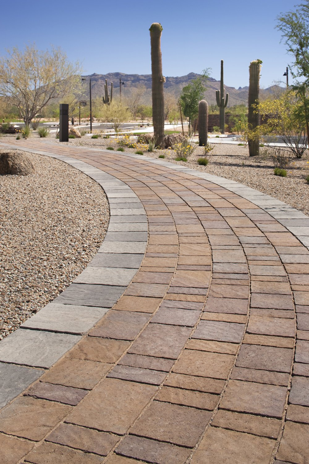 image of a walkway for a business